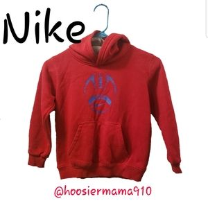 Boys Nike Red and Blue Football Hoodie Size 6